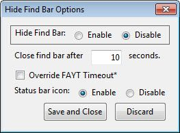 firefox hide find bar   Hide Find Bar: Hide The Finder Bar After A Period Of Inactivity [Firefox]
