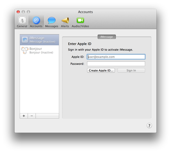 Bye Bye iChat: Getting Started With The New OS X Messages App [Mountain Lion] imessage id