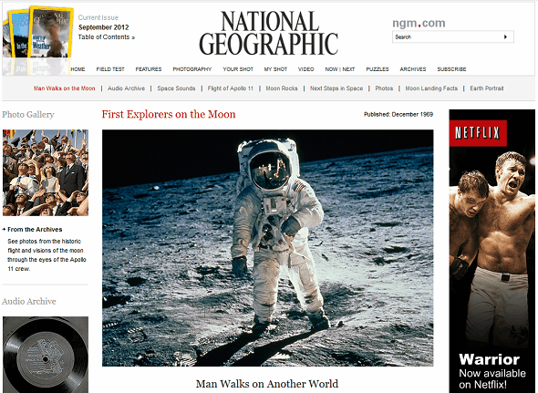 Learn About Neil Armstrong & The Apollo 11 Moon Landing On The Web national geographic apollo 11