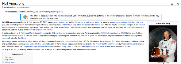 Learn About Neil Armstrong & The Apollo 11 Moon Landing On The Web neil armstrong wikipedia