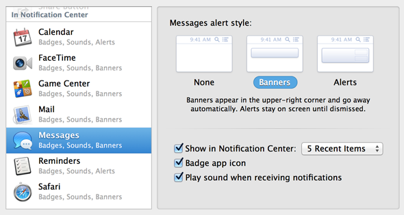 Bye Bye iChat: Getting Started With The New OS X Messages App [Mountain Lion] notifications