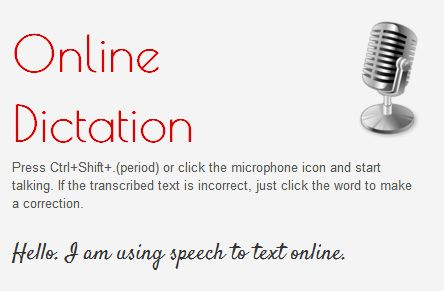 convert speech to text online