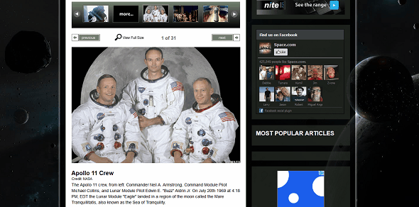 Learn About Neil Armstrong & The Apollo 11 Moon Landing On The Web spacecom apollo 11