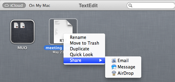 share documents icloud pages