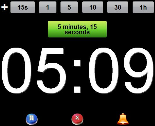 set a timer for 5 minutes