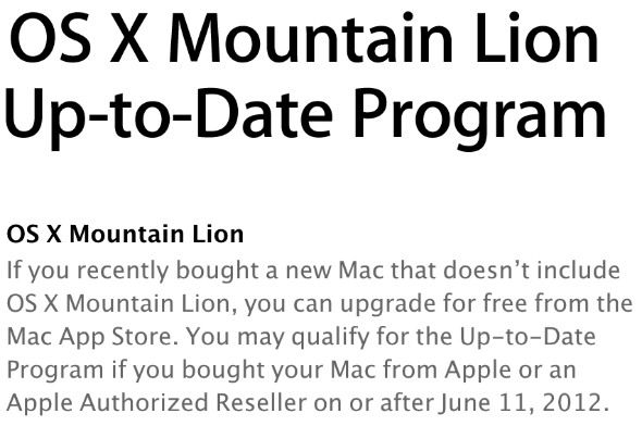 Bought A Mac Recently? Claim Your Free Upgrade To OS X Mountain Lion uptodate1
