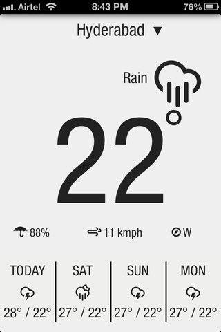 quick weather app