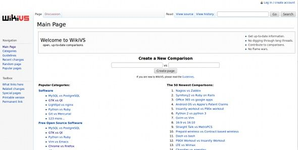 wikivs   WikiVS: Find The Best Comparisons Online