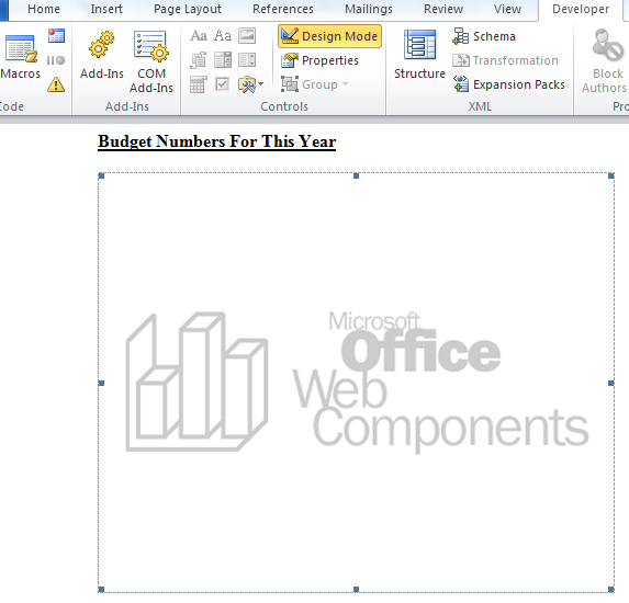 Add A Chart To A Microsoft Document With Office Web Components wordchart5