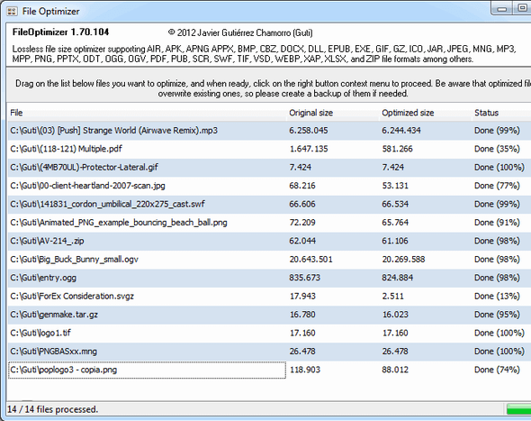 13   FileOptimizer: Compress Different File Types Without Loosing Quality