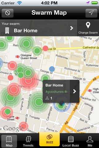 14   Swarmly: Finds The Hottest Places Near You In Real Time [iOS]