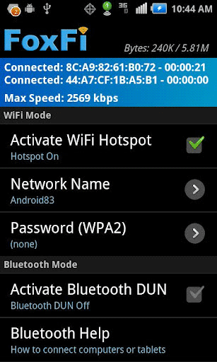 turn android phone into a wifi hotspot