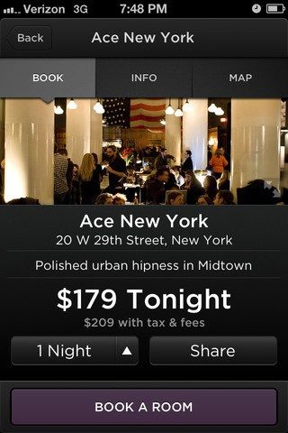 ACe   Hotel Tonight: Find The Best Last Minute Deals On Hotels [iOS]
