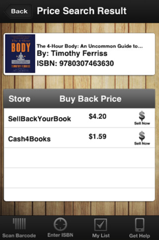 BookBuyBack 2   BuyBackTextbooks: Sell Your Books to the Store Offering Highest Price [iOS & Android]