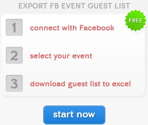 Connect   Evuli: Download Guest List Of Facebook Events In Excel Format