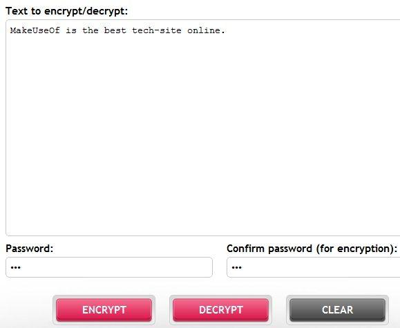 decrypt text with password
