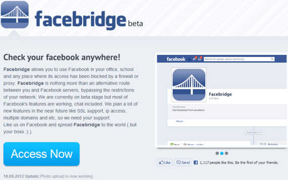 Facebridge   Facebridge: An Excellent Proxy That Helps You Use Facebook