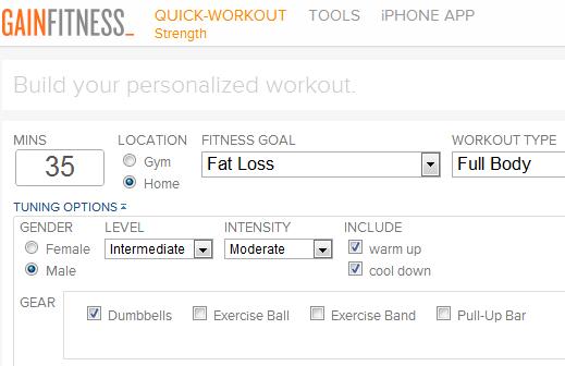 get a customized workout plan