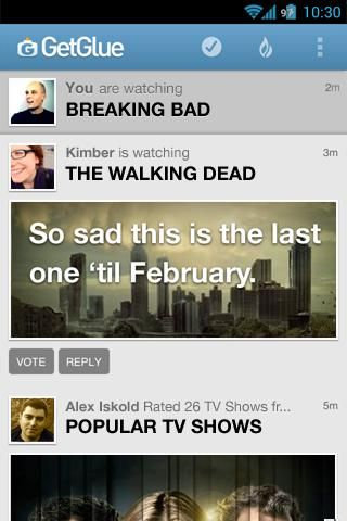 GetGlue - The Online Entertainment-Based Party [Android] Glue BreakingBad