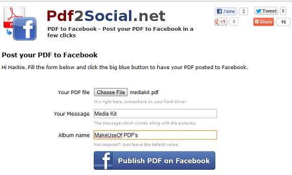 share pdf files on facebook