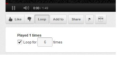 youtube video auto repeat