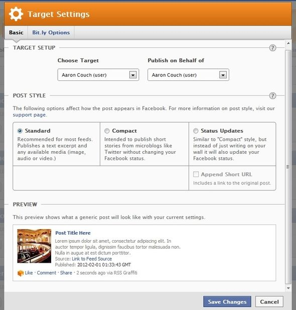 Distributing Your Blog Content: The Best Auto-Posting Services RSS Graffiti Target Settings