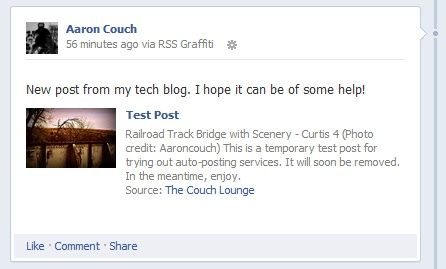 Distributing Your Blog Content: The Best Auto-Posting Services RSS Graffiti to Facebook