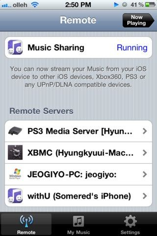 share ipod music library