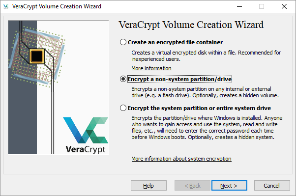 VeraCrypt Encrypt Partition or Drive