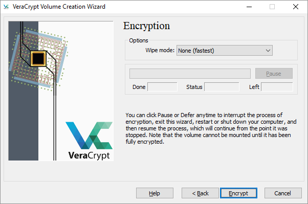 VeraCrypt Launch Encryption