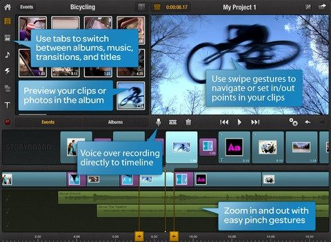 Zoomin   Pinnacle Studio: Quickly Create & Edit HD Videos On Your iPad (Free For A Limited Period)