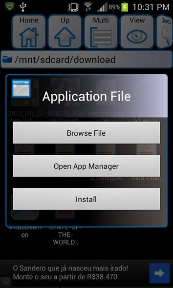 manually install android apps