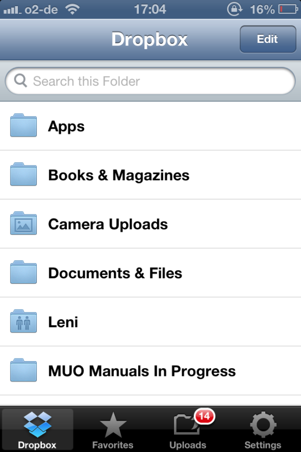 Dropbox - One Of The Must-Have Apps If You Own An iPhone dropbox folderlist