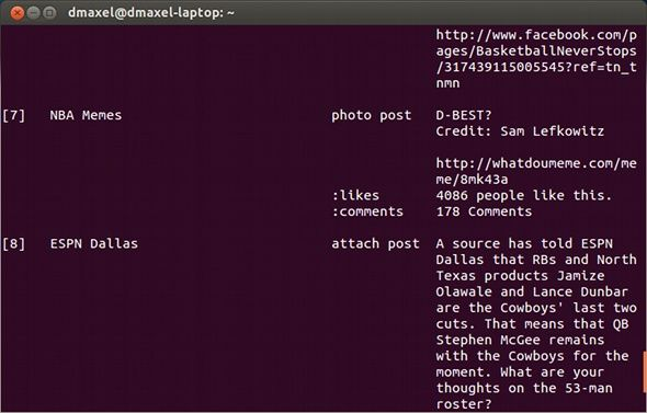 facebook linux command line