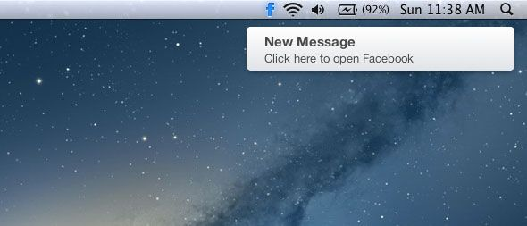 How To See And Respond To Facebook IMs in Messages for Mac glow for fb