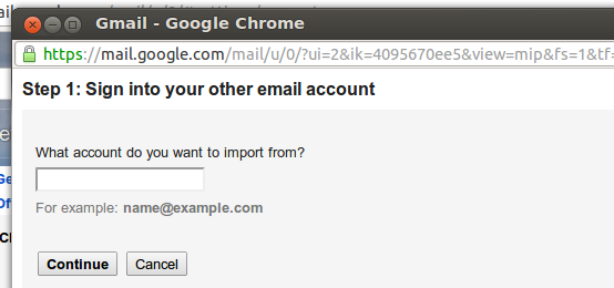 import old gmails emails gmail