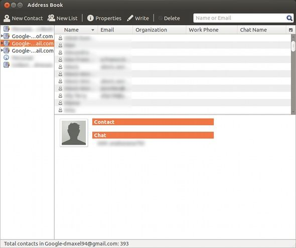 gmail contacts sync linux