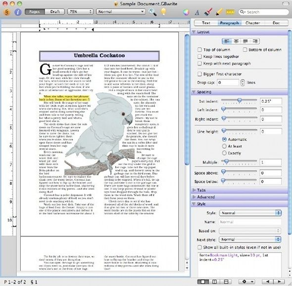 text processor for mac