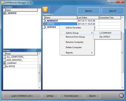 remote desktop usage