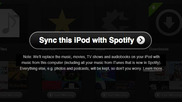 syncing spotify to ipod