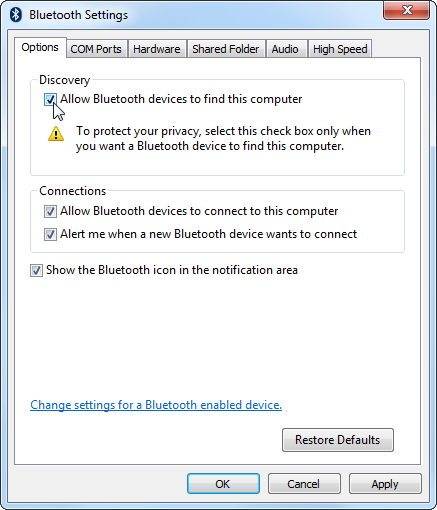 How to Set up Bluetooth in Windows 7, Make PC Discoverable ...