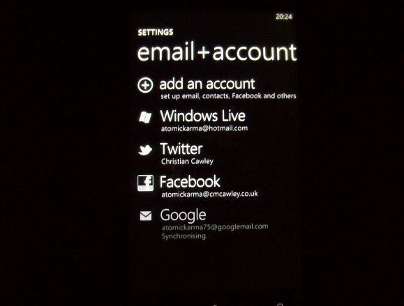 set up a google account with hotmail