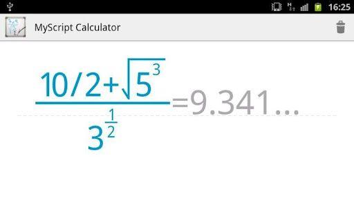 myscriptcalculator1   MyScript Calculator: A Handwriting Recognition Calculator [Android]