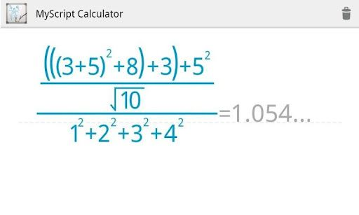 myscriptcalculator2   MyScript Calculator: A Handwriting Recognition Calculator [Android]