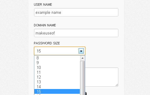 different password for every website