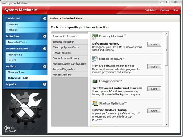 System Mechanic 11: Tune Up Your PC and Boost Performance Instantly [Giveaway] sm individual tools