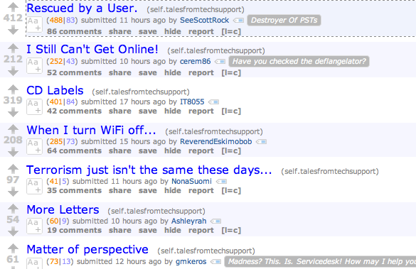 Special All AskReddit Edition And A Subreddit of the Week [Best of Reddit] talesfromsupport