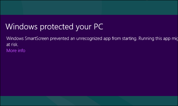windows 8 smartscreen   Five Surprising Facts About Windows 8