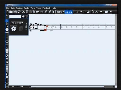 sheet music editor