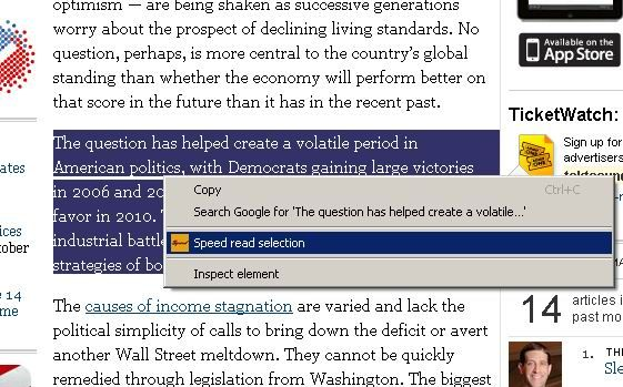 speed reading chrome